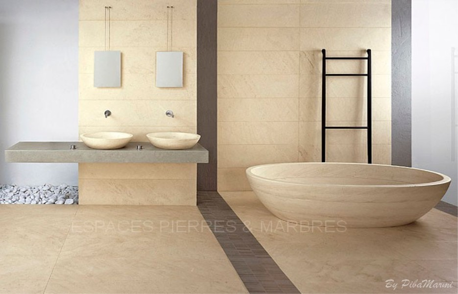 bains d co les baignoires massives espaces pierres marbres. Black Bedroom Furniture Sets. Home Design Ideas