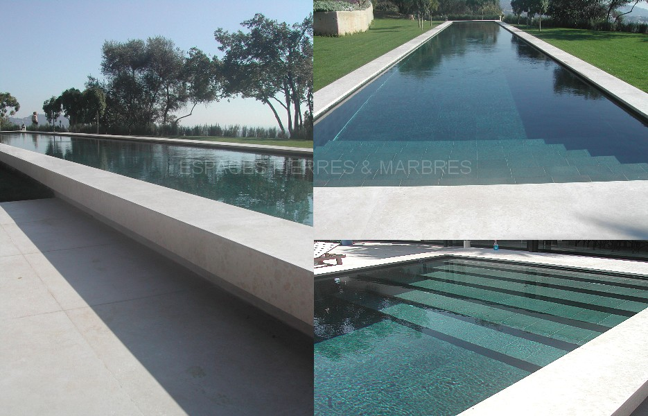 Pierre et construction with contemporain piscine for Piscines centelles